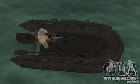 Barco de Cod mw 2 para GTA San Andreas vista posterior izquierda