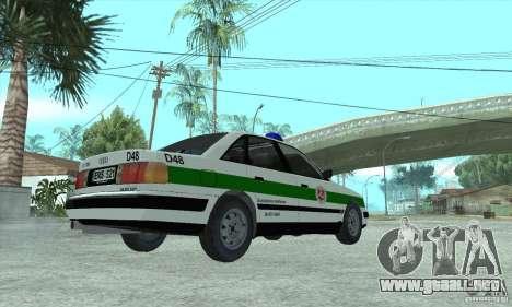Audi 100 C4 (Cop) para GTA San Andreas left