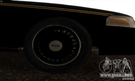Ford Crown Victoria Alaska Police para la visión correcta GTA San Andreas