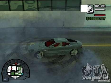 Humo saliendo debajo de las ruedas, como NFS Pro para GTA San Andreas