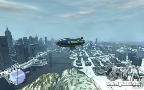 Dirigible para GTA 4 vista superior
