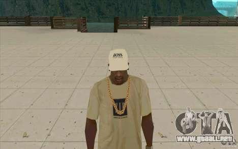Jefe Cap white para GTA San Andreas