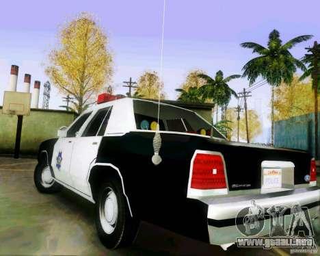 Ford Crown Victoria LTD 1991 SFPD para GTA San Andreas vista posterior izquierda