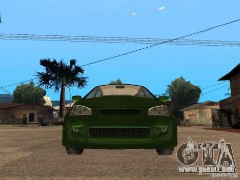 Lada Kalina Sport Tuning para la visión correcta GTA San Andreas