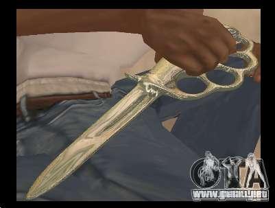 Cuchillo nudillos de bronce cromado para GTA San Andreas