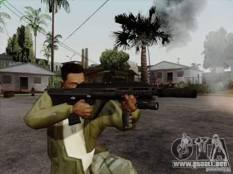 AUG-A3 Special Ops Style para GTA San Andreas quinta pantalla