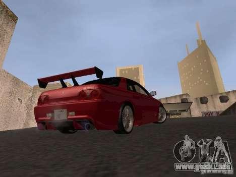 Nissan Skyline R32 Tuned para GTA San Andreas vista hacia atrás