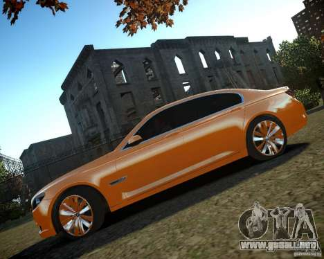 BMW 750Li  2010 para GTA 4 vista interior
