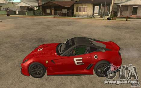 Ferrari 599xx 2010 para GTA San Andreas left