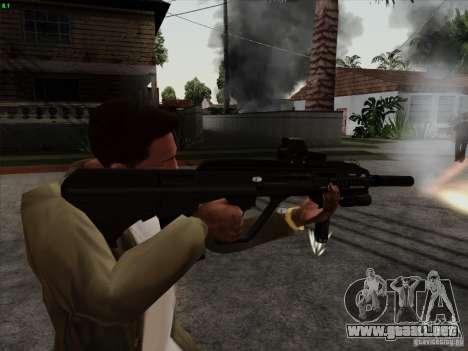 AUG-A3 Special Ops Style para GTA San Andreas segunda pantalla
