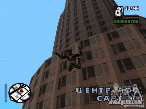 Crysis Nano Suit para GTA San Andreas octavo de pantalla