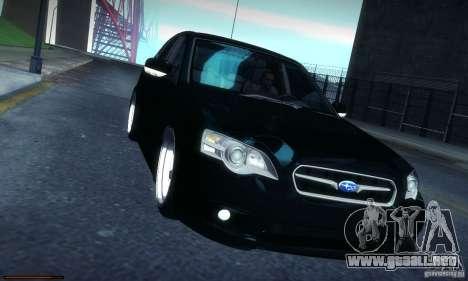 Subaru Legacy BIT edition 2004 para visión interna GTA San Andreas