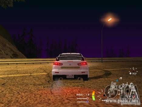 Mitsubishi Lancer Evolution X DPS para la visión correcta GTA San Andreas