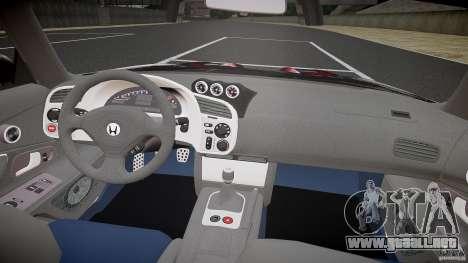 Honda S2000 Tuning 2002 piel 2 para recocido para GTA 4 visión correcta