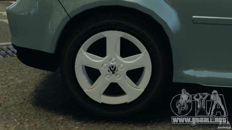 Volkswagen Golf Sportline 2011 para GTA 4 vista desde abajo
