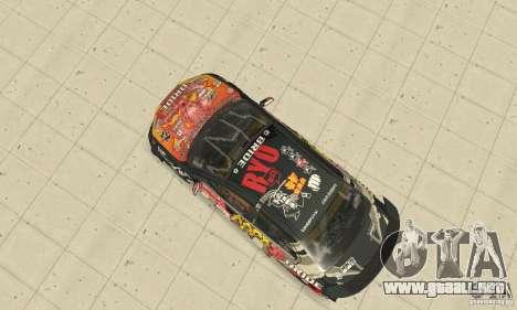 Mitsubishi Lancer EVO Ryo para GTA San Andreas vista hacia atrás