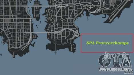 SPA Francorchamps [Beta] para GTA 4 undécima de pantalla