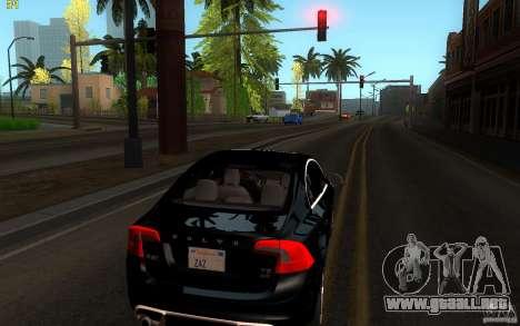 Volvo S60 2011 para GTA San Andreas vista posterior izquierda