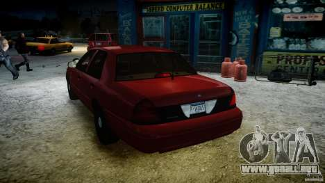 Ford Crown Victoria Detective v4.7 red lights para GTA 4 interior