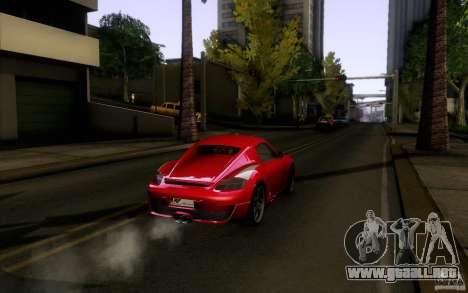 Ruf RK Coupe V1.0 2006 para GTA San Andreas vista hacia atrás