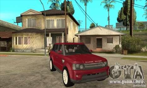 Land Rover Range Rover Sport HSE para GTA San Andreas vista hacia atrás