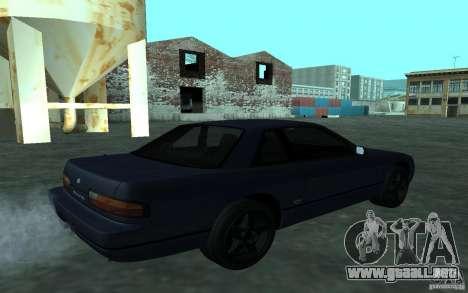 Nissan Onevia (Silvia) S13 para GTA San Andreas vista posterior izquierda