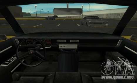 New Regina para GTA San Andreas vista posterior izquierda