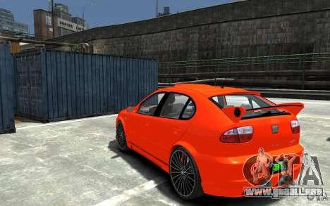 Seat Leon Cupra R para GTA 4 Vista posterior izquierda