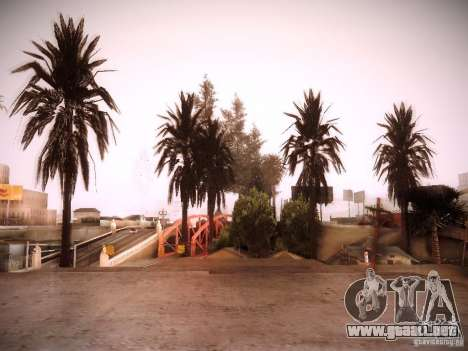 New trees HD para GTA San Andreas quinta pantalla