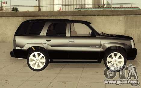 Cadillac Escalade 2004 para la vista superior GTA San Andreas