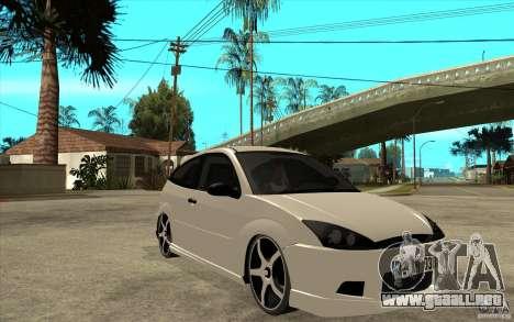 Ford Focus Coupe Tuning para GTA San Andreas vista hacia atrás