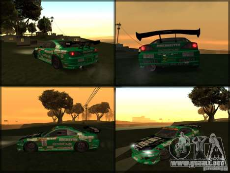 Nissan Silvia S15: Kei Office D1GP para GTA San Andreas vista posterior izquierda