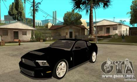 Ford Shelby GT 500 2010 para GTA San Andreas
