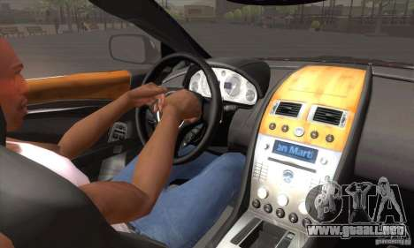 Aston Martin DB9 Female Edition para la vista superior GTA San Andreas