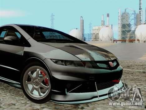 Honda Civic TypeR Mugen 2010 para visión interna GTA San Andreas