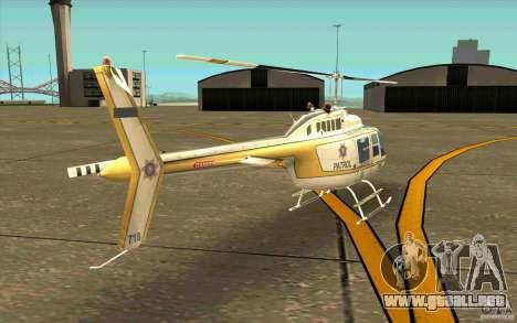 Bell 206 B Police texture4 para la visión correcta GTA San Andreas