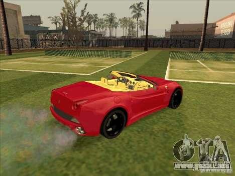 Ferrari California para la visión correcta GTA San Andreas
