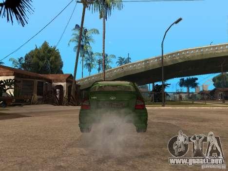 Lada Kalina Sport Tuning para GTA San Andreas vista posterior izquierda