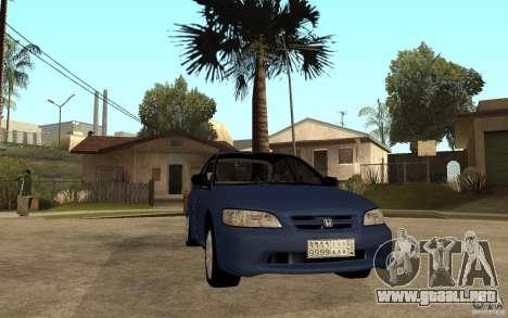 Honda Accord 2001 beta1 para GTA San Andreas vista hacia atrás