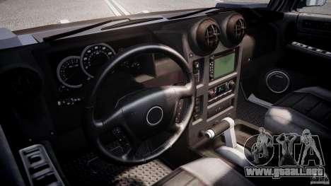 Hummer H2 para GTA 4 vista hacia atrás