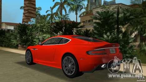 Aston Martin DBS V12 para GTA Vice City vista lateral izquierdo