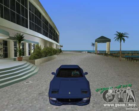 Ferrari F355 para GTA Vice City vista lateral izquierdo