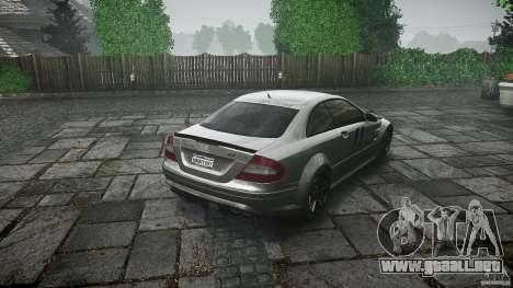 Mercedes Benz CLK63 AMG Black Series 2007 para GTA 4 vista lateral
