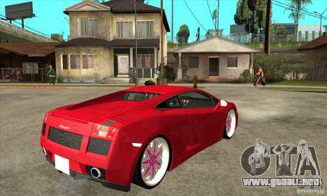Lamborghini Gallardo White & Pink para la visión correcta GTA San Andreas