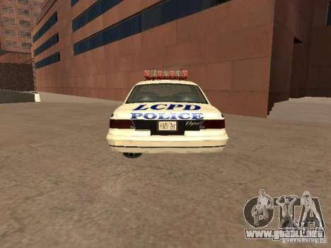 La policía de GTA4 para GTA San Andreas vista posterior izquierda
