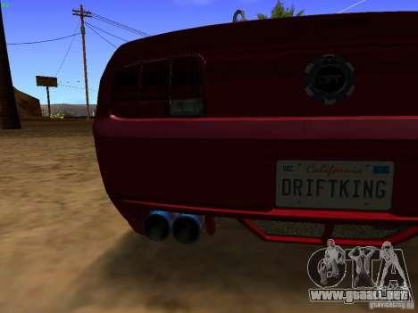 Ford Mustang GT 2005 Tuned para visión interna GTA San Andreas