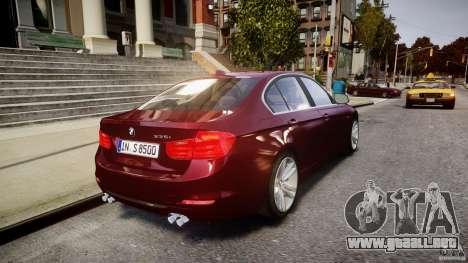 BMW 335i 2013 v1.0 para GTA 4 vista desde abajo