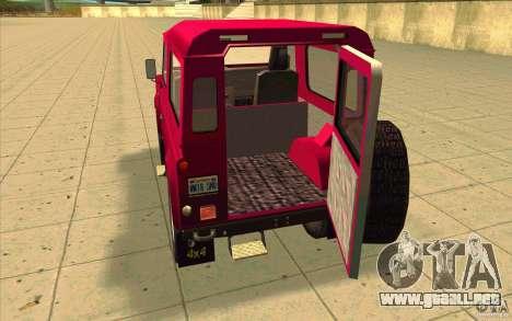 Land Rover Defender 90SW para visión interna GTA San Andreas
