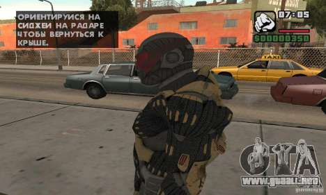 Crysis skin para GTA San Andreas segunda pantalla