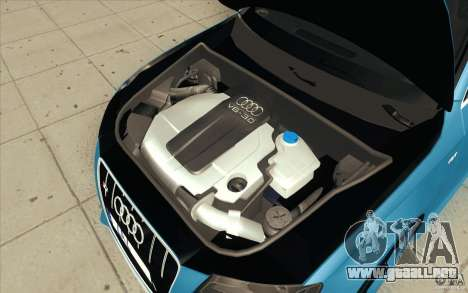 Audi S4 2009 para vista inferior GTA San Andreas